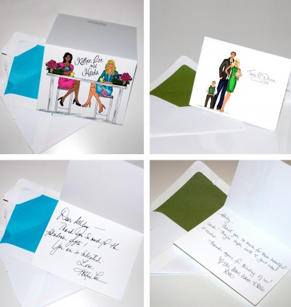 celebrity thank you notes