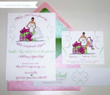 Ashley Brooke Designs: Bridal Shower Invitations