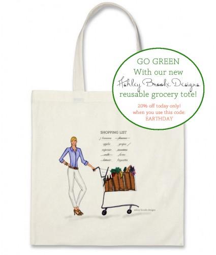 Reusable ABDesigns Grocery Totes