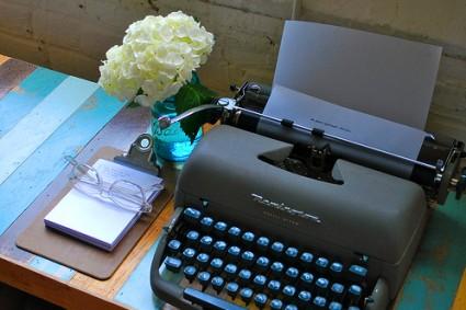 Typewritter on Desk