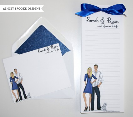 custom stationery and flat cards