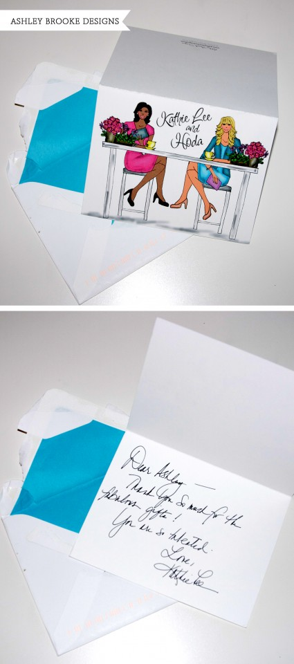 Kathie Lee Thank You Card