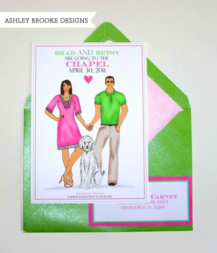 Ashley Brooke Designs: A Preppy Save The Date