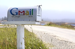 mailbox with gmail on it