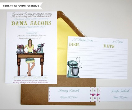 Ashley Brooke Designs: Bridal Shower Invitations + Recipe Cards