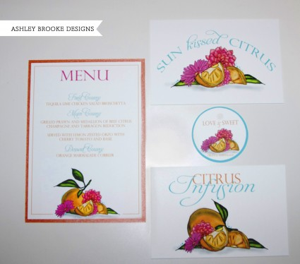 Citrus Inspired Wedding Paper