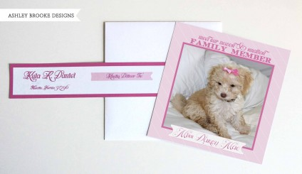 Ashley Brooke Designs: Puppy Announcements