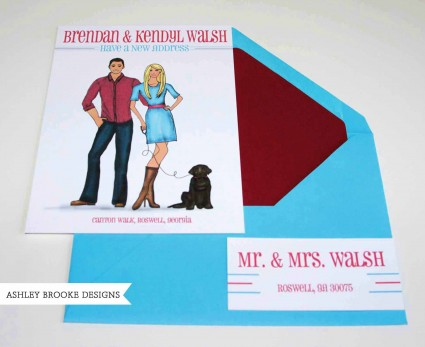 Ashley Brooke Designs: A Perfect Moving Announcement