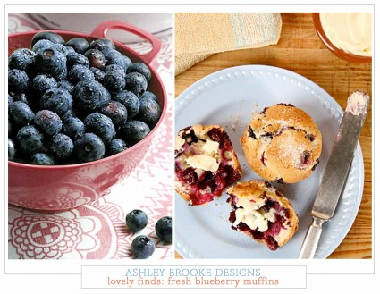 Lovely Finds: Fresh Blueberry Muffins