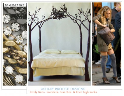 Lovely Finds: Bracelets, Branches, & Knee-High Socks