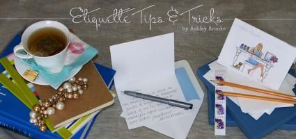 Ashley Brooke Designs: Etiquette Wednesday
