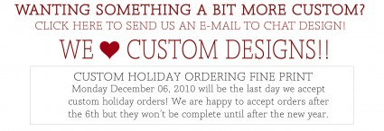 Custom Holiday