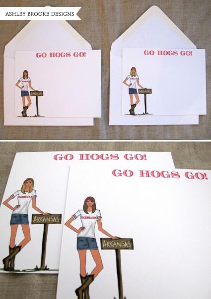 Ashley Brooke Designs: Southern Football (Razorbacks & Ole Miss)