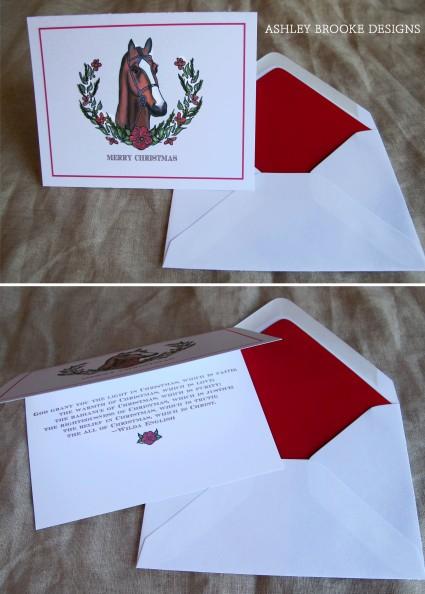 Ashley Brooke Designs: A Preppy Equestrian Christmas Card