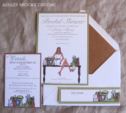 Ashley Brooke Designs: Bridal Shower Illustration