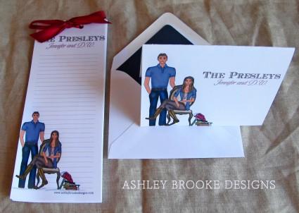 Ashley Brooke Designs: Newlywed Stationery