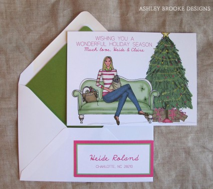 Ashley Brooke Designs: A Pink & Green Holiday