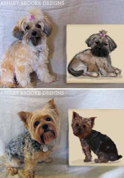 Ashley Brooke Designs: Portrait of a Dog, or two!