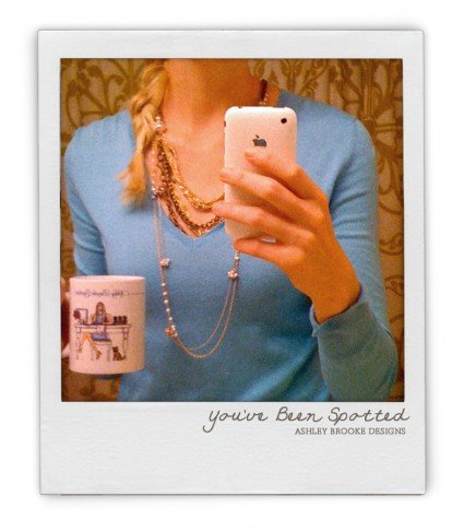 Ashley Brooke Designs: You've Been Spotted!