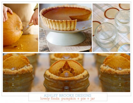 Lovely Finds: Pumpkin + Pie + Jar