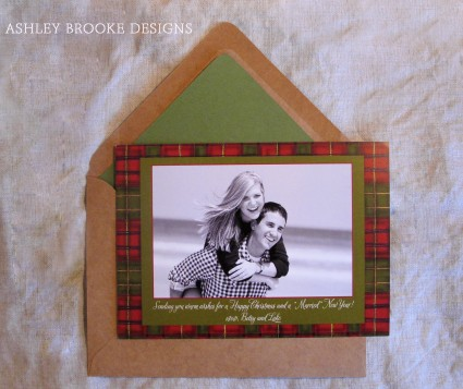 """Ashley Brooke Designs: A """"Married"""" New Year (Photo Holiday Cards)"""