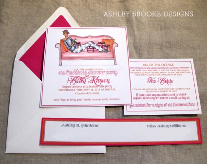 Slumber Party Inviations Ashley Brooke Designs