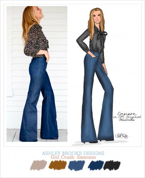 Ashley Brooke Designs Girl Crush- Emerson Made Original Bluebells