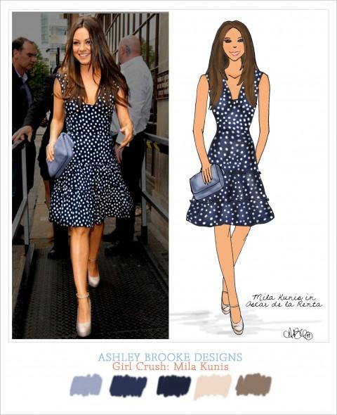 Girl Crush: Mila Kunis in Oscar de la Renta - Ashley Brooke Designs