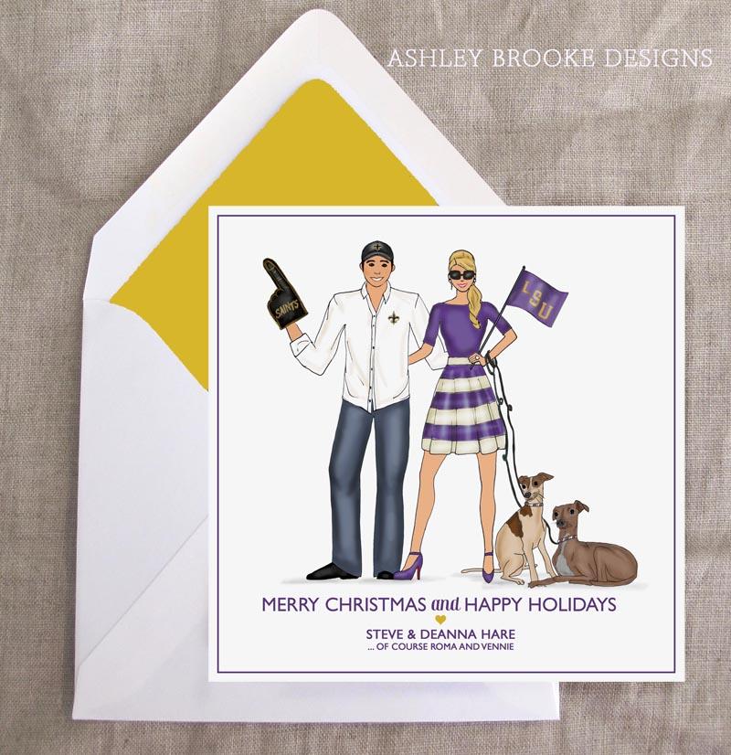 New Custom Illustration} A Very LSU Christmas! - Ashley Brooke Designs