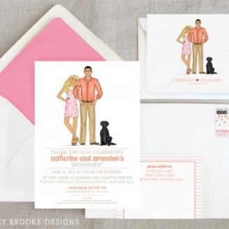 New Custom Illustration Debutante Party Ashley Brooke Designs