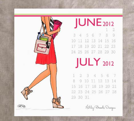 Printmonthly Calendar on Ashley Brooke Designs   June 2012 Calendar Print