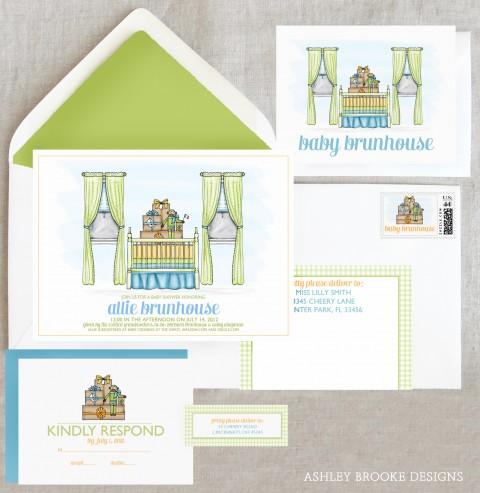Ashley Brooke Designs - Custom Baby Shower Invitations