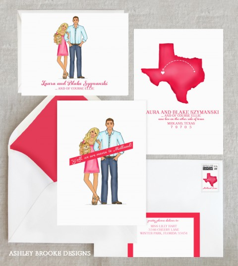 Ashley Brooke Designs - Texas Moving Announcements