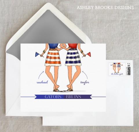 Ashley Brooke Designs - College Twinsies
