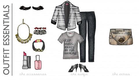 Concert Style Essentials Illustration via Ashley Brooke Designs