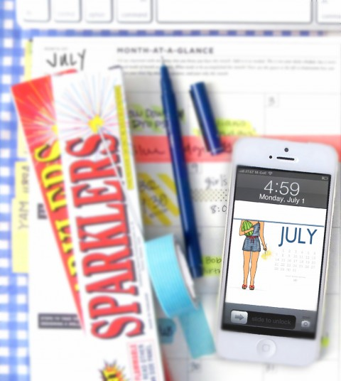 July's Free Download via Ashley Brooke Designs