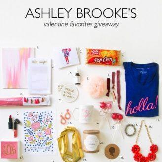 Ashley Brooke's Valentine Favorites Giveaway!