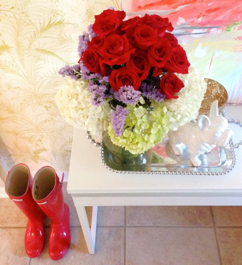Roses + Wellies via Ashley Brooke Designs