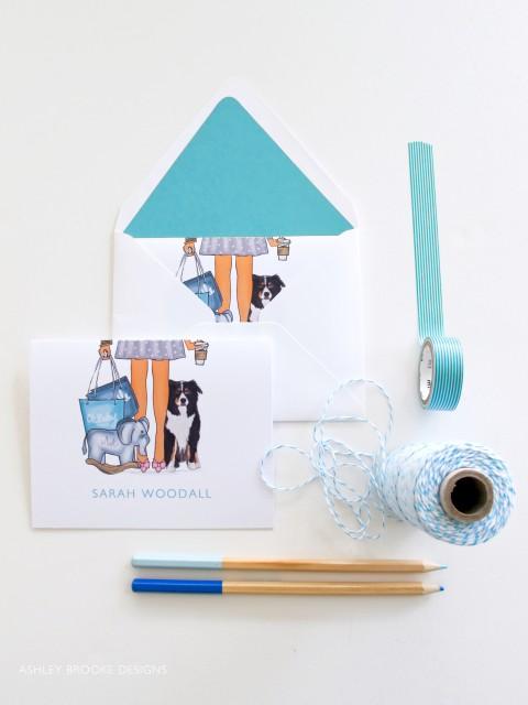 Baby Stationery via Ashley Brooke Designs