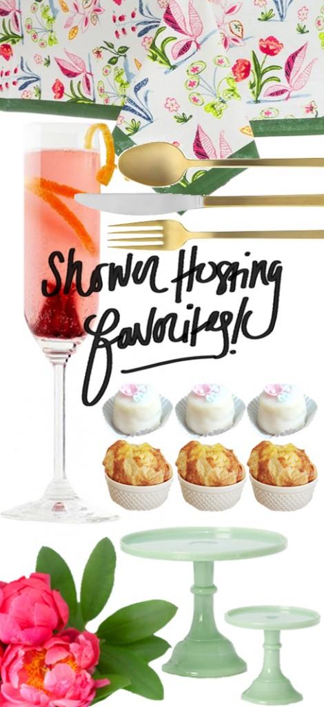 Shower Hosting Favorites via Ashley Brooke Designs