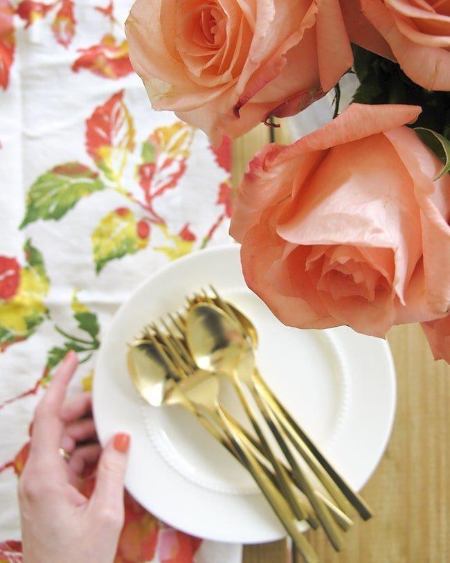 dinner party prep via Ashley Brooke Designs