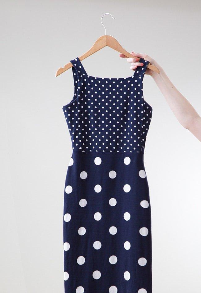 ASOS Polka Dotted Navy Dress via Ashley Brooke Designs 1