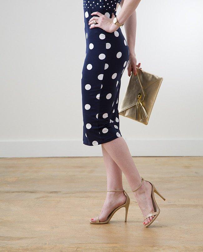 ASOS Polka Dotted Navy Dress via Ashley Brooke Designs 2