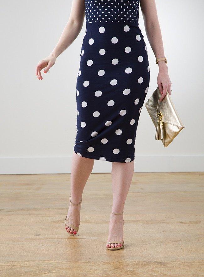 ASOS Polka Dotted Navy Dress via Ashley Brooke Designs 3