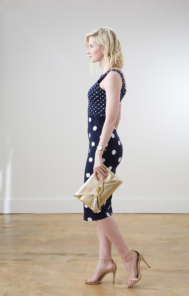 ASOS Polka Dotted Navy Dress via Ashley Brooke Designs 4