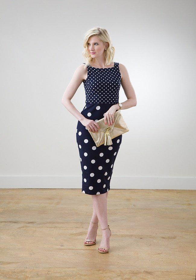 ASOS Polka Dotted Navy Dress via Ashley Brooke Designs 7