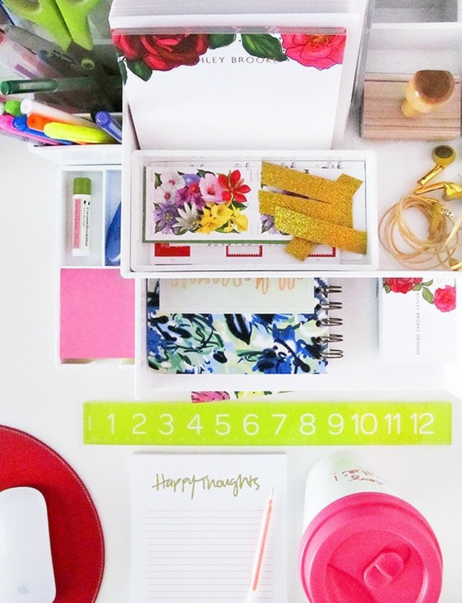 Poppin Desk Accessories via Ashley Brooke Designs