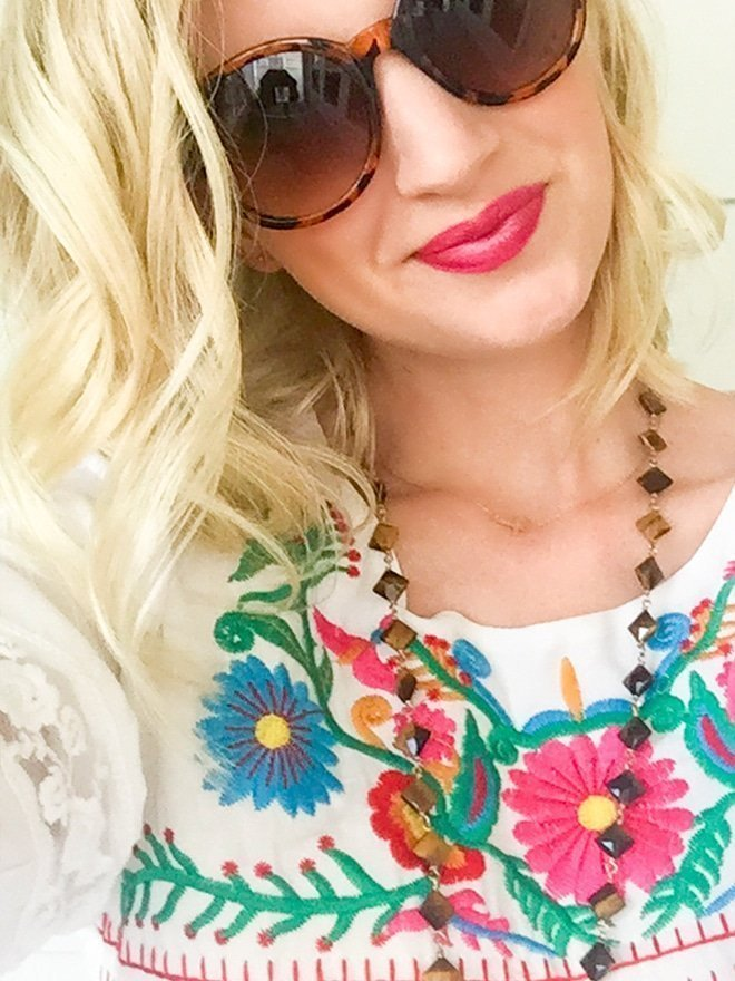 ASOS Reclaimed Vintage Tunic Top With Embroidery via Ashley Brooke Designs- Blog