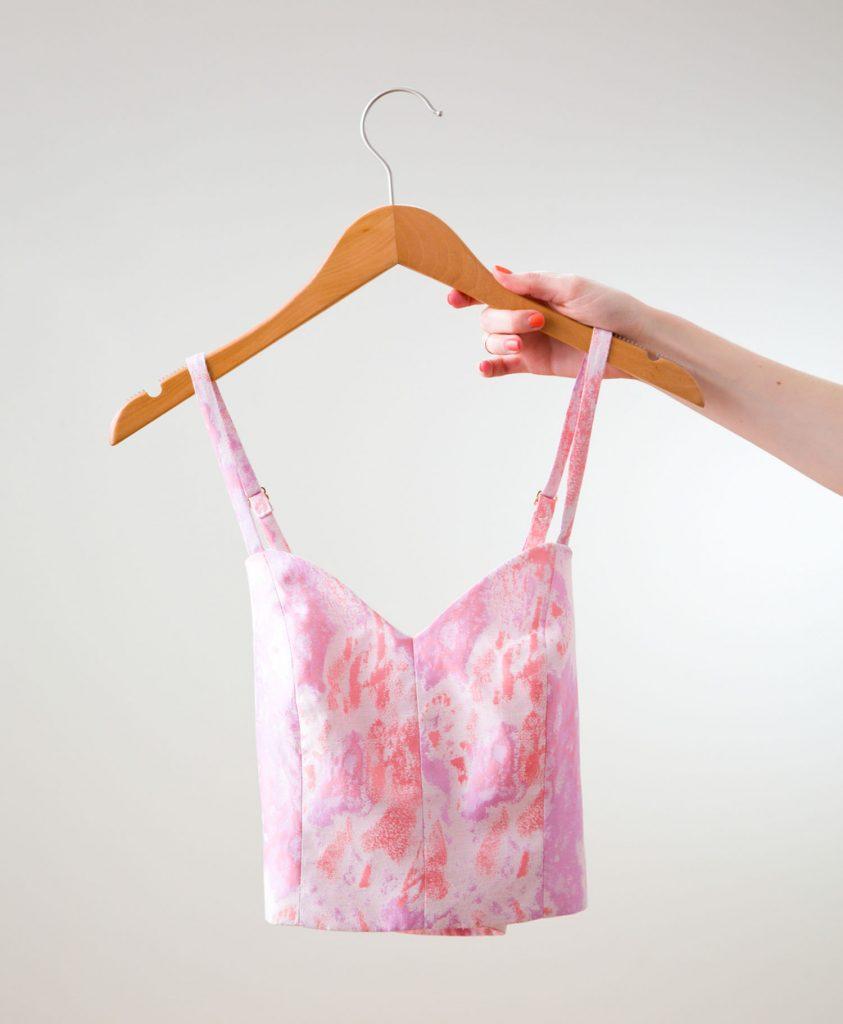 Pink Crop Top and Skirt via Ashley Brooke Designs 6_1