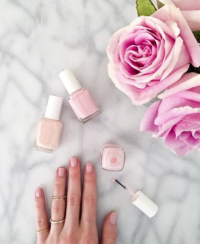 The perfect light pink nail polish via Ashley Brooke Designs